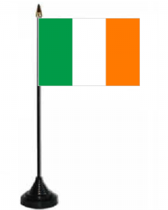 Ireland Desk / Table Flag with plastic stand and base.